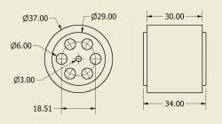 Atom Wheel 37x34mm Pair - Thumbnail