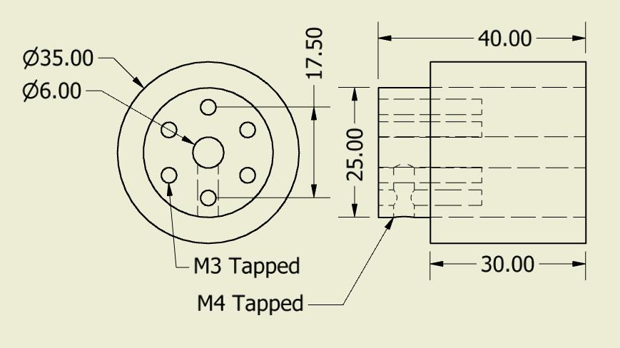 JSumo Robot Wheel 35x40mm Pair