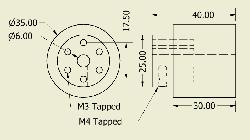 JSumo Robot Wheel 35x40mm Pair - Thumbnail