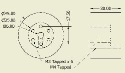 JSumo Robot Wheel 45x30mm Pair - Thumbnail