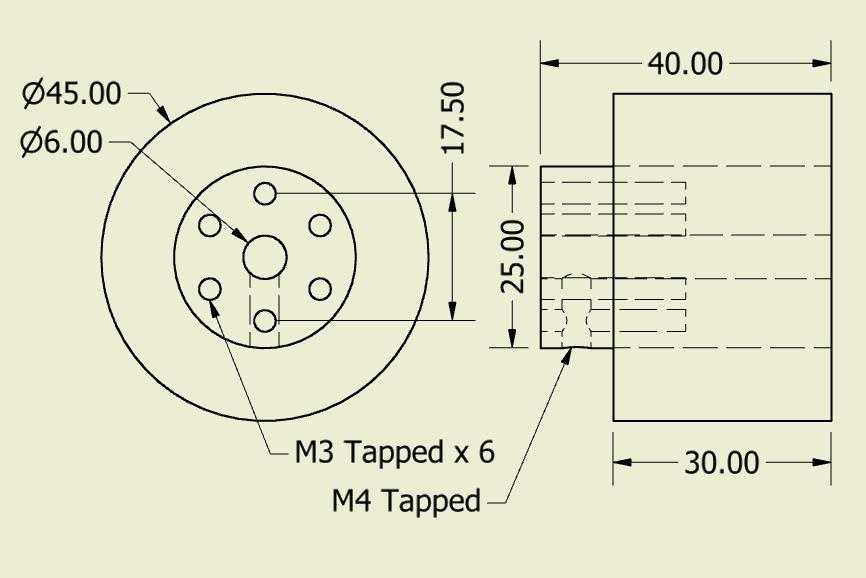JSumo Robot Wheel 45x40mm Pair