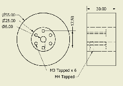 JSumo Robot Wheel 55x30mm Pair - Thumbnail