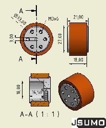 SLT20 Aluminum - Silicone Wheel Set (33mmx20mm - Pair) - Thumbnail