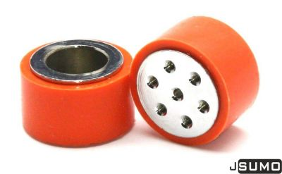 Jsumo - SLT20P Steel - Silicone Wheel Set (33mm x 20mm - Pair) (1)