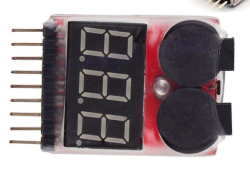 LiPo Buzzer Battery Voltage Indicator Volt Meter (Tester With Alarm) - Thumbnail