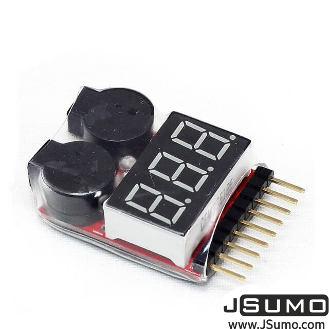 LiPo Buzzer Battery Voltage Indicator Volt Meter (Tester With Alarm)