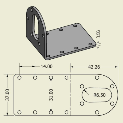 Jsumo - 37mm Motor Mount Pair (For Titan Series) (1)