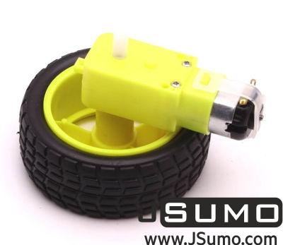 Jsumo - 6V 250 Rpm Plastic Gearmotor & Wheel (1)