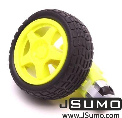 Jsumo - 6V 250 Rpm Plastic Gearmotor & Wheel