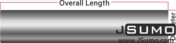 Plain Steel Shaft Ø6mm Diameter 80mm Length