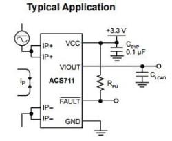 ACS711KEXLT-31AB 31 Ampere Current Sensor IC - Thumbnail