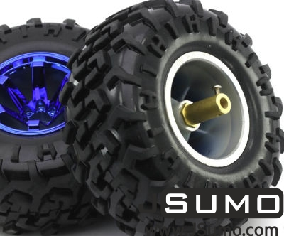 Jsumo - All Terrain Robot Wheel Pair (130mm x 59mm) (1)