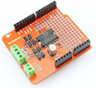 - Ardumoto Shield Dual Motor Driver Shield (2Ax2)