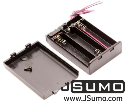 Jsumo - Battery Holder 3 x AA with Cover and Switch