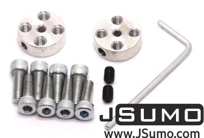 Jsumo - CNC Machined Flat Hubs (3mm Hole - Pair) (1)