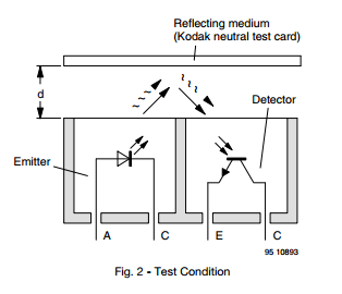 CNY70 Transistor Output Reflected Light Detector