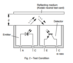 CNY70 Transistor Output Reflected Light Detector - Thumbnail