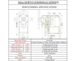 ES08MA II Micro Servo Motor - Thumbnail