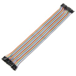 Female to Female Flat Jumper Cable - Thumbnail