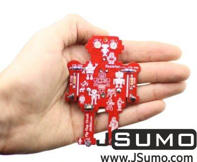 Jsumo - Flappy Flip Flop Keychain Kit - Easy Soldering Kit with Lights