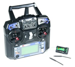 - FLYSKY I6 2.4 Ghz 6 Channel Remote Kit (Transmitter & Receiver)