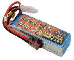 Gens Ace 1800mAh 11.1V 25C 3S1P LiPo Battery - Thumbnail