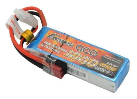 Gens Ace 1800mAh 7.4V 25C 2S1P LiPo Battery