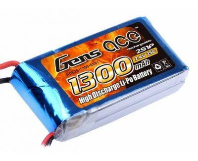 Gens Ace - GENSACE 1300 mah 7,4V 2S 25C LiPO Battery