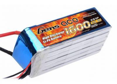 Gens Ace - GENSACE 1600 Mah 22,2V 6S 40C LiPO Battery