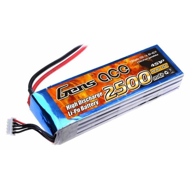 GENSACE 2500mAh 14.8V 25C 4S1P LiPo Battery