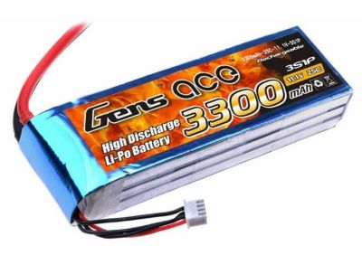 GENSACE - GENSACE 3300mAh 11.1V 25C 3S1P LiPo Battery