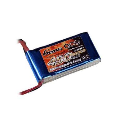 Gens Ace - GENSACE 450mAh 7.4V 25C 2S1P LiPo Battery (1)
