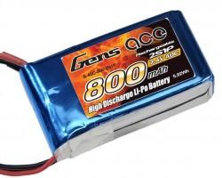 GENSACE 800mah 7,4V 2S 40C LiPO Battery - Thumbnail