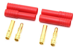 Gold Connector Plug Pair (4mm Banana + Cases) - Thumbnail