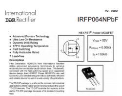 IRFP064N High Power Mosfet 55V 110A - Thumbnail
