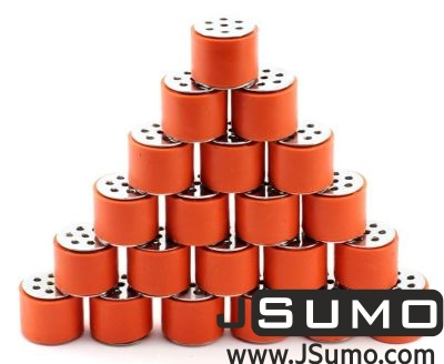 Jsumo - JS2622S Steel-Silicone Wheel Pair (26mm Diameter) (1)
