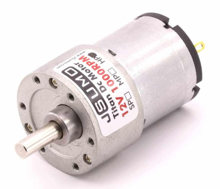 JSumo Titan Dc Gearhead Motor 12V 1000 RPM HP