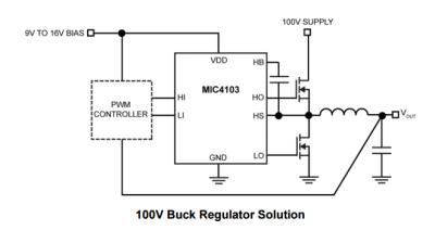 Microchip - MIC4104YM TTL Half Bridge Mosfet Driver IC (1)