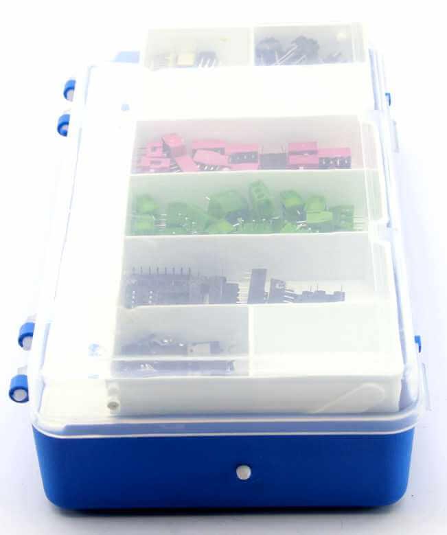 Mini Organizer Component Box (Black - 13 Compartment)