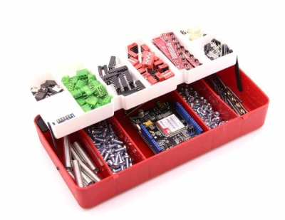 Jsumo - Mini Organizer Component Box (Red - 13 Compartment)