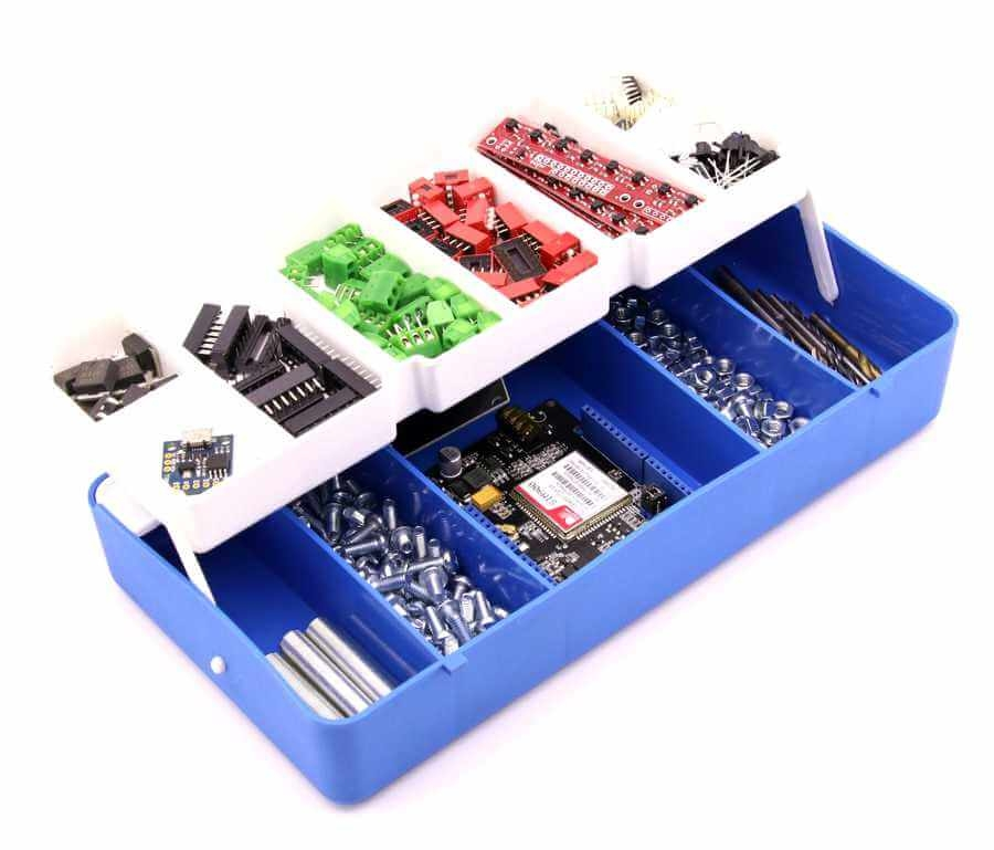 Mini Organizer Component Box (Blue - 13 Compartment)