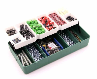 Jsumo - Mini Organizer Component Box (Dark Green - 13 Compartment)