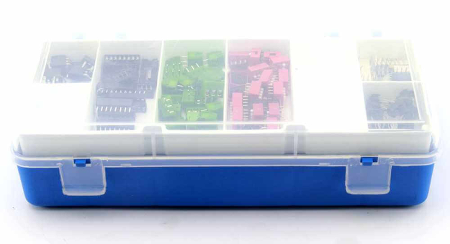 Mini Organizer Component Box (Yellow - 13 Compartment)