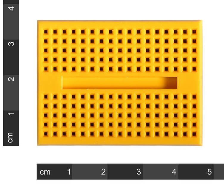 Mini Yellow Breadboard 170 Pinhole