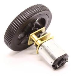Mini Rubber Wheel 32x7mm Pair - Black - Thumbnail