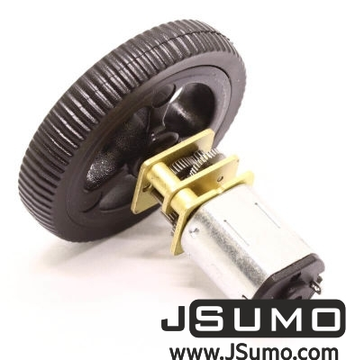 Jsumo - Mini Rubber Wheel 32x7mm Pair - Black (1)