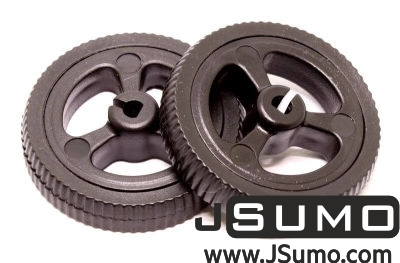 Jsumo - Mini Rubber Wheel 32x7mm Pair - Black