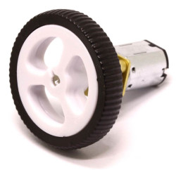 Mini Rubber Wheel 32x7mm Pair - White - Thumbnail