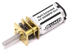MP12 Extended Micro Gear Motor 6V 600RPM MP - Thumbnail