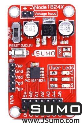 Jsumo - NODE1824X PIC16F1824 Breakout Board (1)